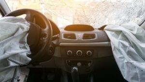 damaged car dashboard