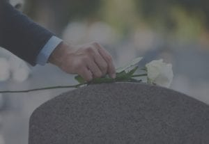 flower on a grave