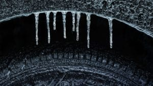 Frozen Wheel Well and Tire