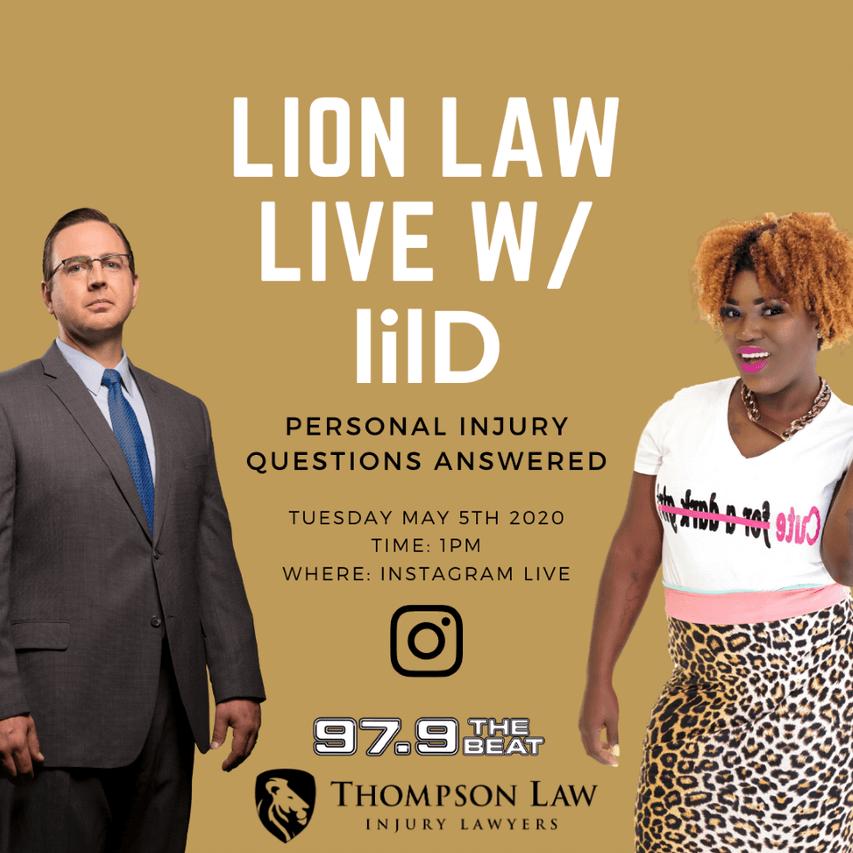 lilD Lion Law Live 97.9 the Beat
