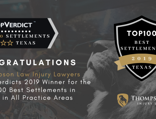 Thompson Law Wins 13 of the Top 100 Settlements in Texas in 2019