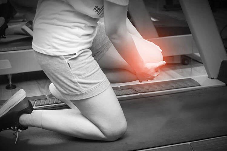 injured on a workout machine