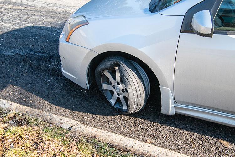 Neumático defectuoso