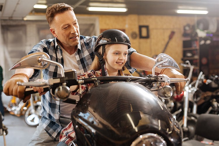 Kids on a motorcycle